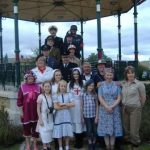 People gathered around the bandstand Horden for Heritage Open Day